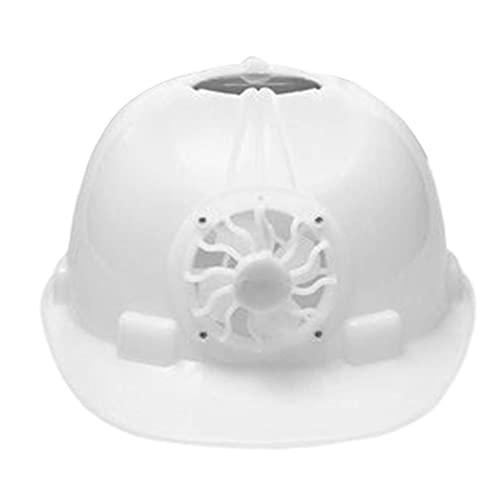 Casco de seguridad industrial, con ventilador de refrigeración solar trabajador de construcción Hard Hat Hat Blanco Protección más completa