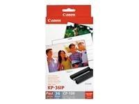 Canon 7737A001 KP-36IP fotopapier inkjet (100 x 148 mm 36 vellen met inktcassette voor CP-100)