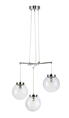 MARKSLOJD 107015 Luminaire, Glass, 40 W, Chrome