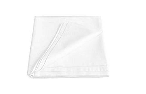EXKLUSIV HEIMTEXTIL Betttuch ohne Gummizug Bettlaken glatt Haustuch Marke 150 x 260 cm Weiss