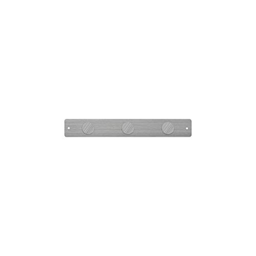 Three by Three Three By Three Seattle Mini Magnetic Strip Bulletin Board Stainless with 3 Large Magnets-(31290)