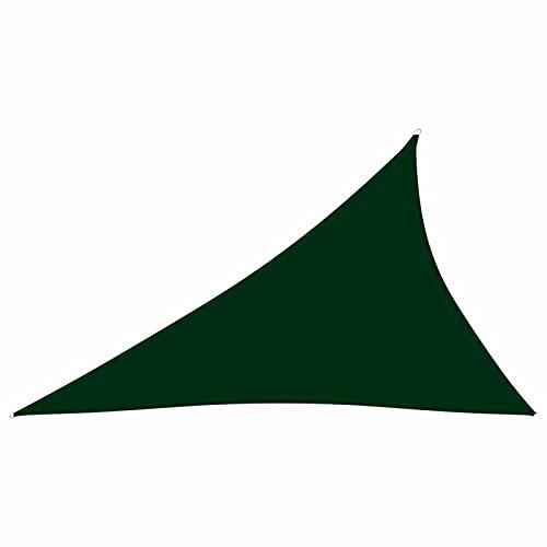 Tidyard Toldo de Vela Triangular Vela de Sombra Toldo Exterior para Terraza Protección UV Toldo Sombrilla Parasol Terraza Jardin Camping Tela Oxford Color Verde Oscuro 3x4x5 m