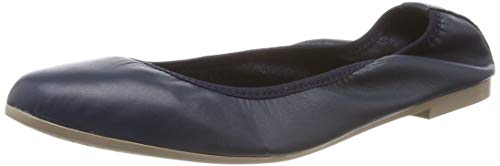 Tamaris Damen 1-1-22128-22 848 Geschlossene BallerinasBlau (NAVY LEATHER 848), 39 EU