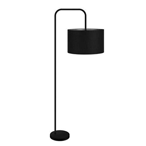 ZCYXQR Lámpara de pie para el hogar Simple y Moderna Sala de Estar de Hierro Estudio de Piano Protección para los Ojos Dormitorio Luz de Noche Hotel nórdico Lámparas de pie Decorativas Negras