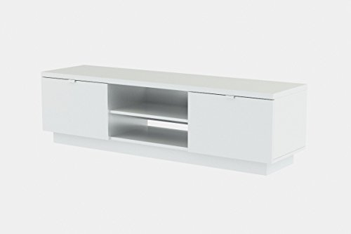 Ikea Byas Tv Unit High Gloss White Modern