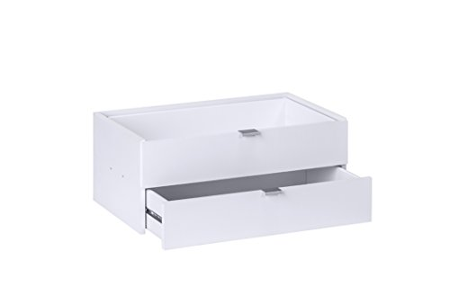 MAJA Raumteiler Wandregal Cableboard 6022 in Weiß 220x186x40cm Bücherregal Wohnwand - 4