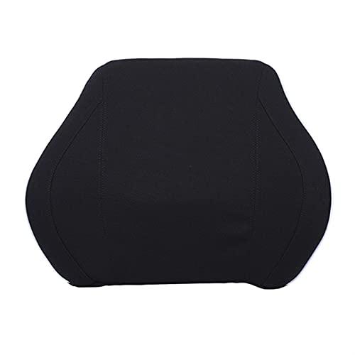 SASAU Schiuma Seggiolino Auto Sospensione Inverno Cuscini Lombari Back Back Massager Vita Cuscino per sedie Home Office Alleviare Il Dolore (Color Name : Black (Cloth))