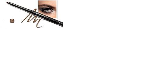 3 lápices de cejas Avon Glimmerstick, color marrón oscuro.