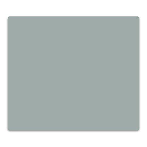 decorwelt Couvercle en Verre pour plaques vitrocéramiques, plaques de Cuisson à Induction, Plaque de Verre, Plaque de Protection, Verre de sécurité, Gris, 60x52 cm