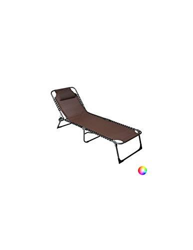 VIP HOGAR Pack 2 Tumbonas/Cama Multiposiciones Reclinables y Plegables para Jardín/Playa con Tejido para Exterior (Negro)