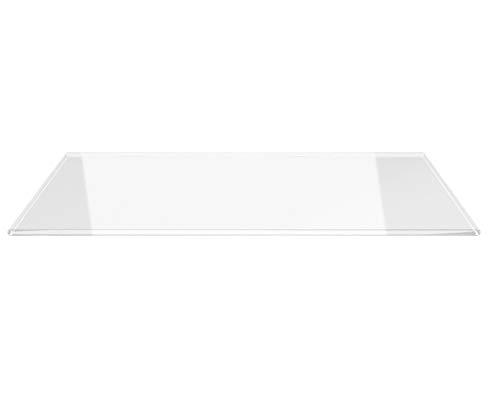 Saisonplatte Rechteck 130x50cm - Kamin-Vorlegeplatte Funkenschutzplatte Klarglas Kaminbodenplatte Glasplatte Kaminofenunterlage Ofenplatte (Rechteck 130x50cm - mit Silikon-Dichtung)