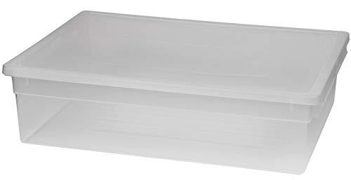 Terry - XL Aufbewahrungsbox aus transparentem Kunststoff mit Deckel. Maße: 37,6 x 52 x 13,9 cm