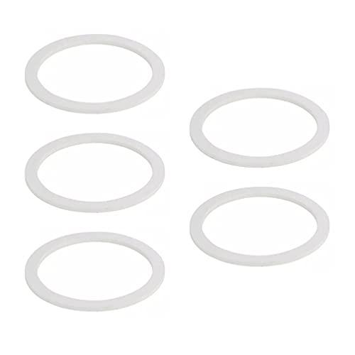 DOITOOL Anillos de Sellado de Silicona 5 Piezas de Anillo de Junta para Tapas de Tarros de Albañil Ollas de Aluminio para Cafetera (9 Tazas)