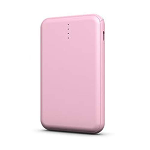 WENMWPower Core 5000 Draagbare oplader, Ultra-Compact 5000Mah Externe Batterij met Fast-Charging Technology, Power Bank voor Iphone, Ipad, Samsung Galaxy En Meer, roze