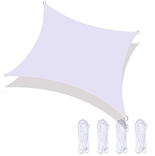 Gaohm Vela Rectangular Anti-UV, Bloque de 98% UV con Cuerda Libre, fácil de Instalar, Resistente al Desgaste, para jardín, Patio, terraza, Camping, Playa, cenadores, decoración