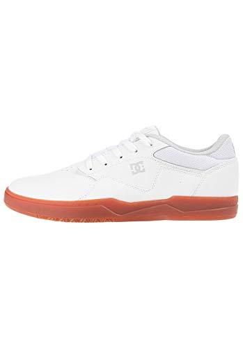DC Shoes Barksdale, Zapatillas de Skateboard Hombre, Blanco (White/Gum Wg5), 39 EU