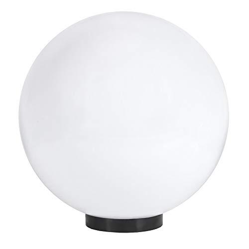 Kugelleuchte Ø 40 cm | Außenkugellampe weiß | Gartenleuchte E27 | Dekoleuchte Außen | Terrassenbeleuchtung IP65 | Außenleuchte Kugel mit Bodenplatte