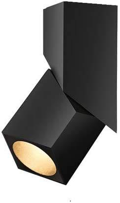 Lámpara De Pared Simple Y Fresca 2019 Superficie Nuevo arte de la moda del cubo montado techo 3W 7W LED Downlight 12W Luz de techo ajustable ángulo de irradiación nórdica Fondo cuadrado de la lámpara