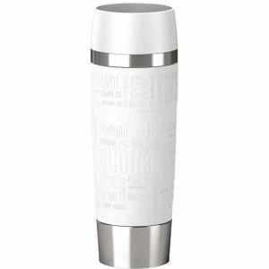 Emsa Isolierbecher Travel Mug Grande 0,5l weiß/Silber