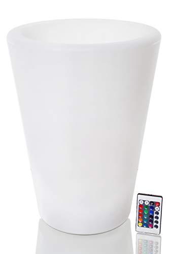 Arnusa Oasis Lights PL124 - Maceta (40 cm, con iluminación LED)