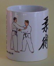 hochwertige Premium Keramik Tasse Ju-Jutsu