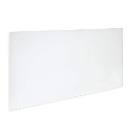 Allpax Infrarot Glasheizung Weiss 700 Watt - 120 x 60 x 1,2 cm - Wandmontage - TÜV geprüft - edle Optik, Kleiner Preis - Thermostate optional erhältlich