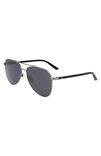 Calvin Klein CK21306S Gafas, Shiny Gunmetal, 58/15/140 Unisex Adulto