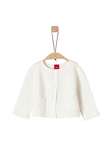 s.Oliver Baby-Mädchen 65.908.64.8938 Strickjacke, Weiß (White 0210), (Herstellergröße: 92)