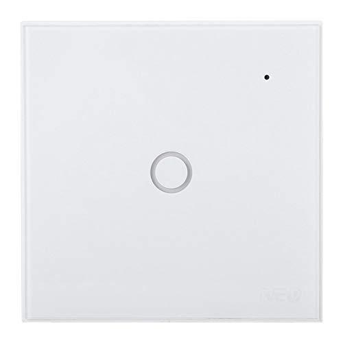 FOLOSAFENAR Enchufe de la UE del diseño de Moda ignífugo de Lujo del Interruptor Elegante para el Eco de Alexa(1 Way)
