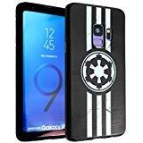 Galaxy S9 Case Imperial Logo,DURARMOR FlexArmor Rubber Flexible Bumper Shockproof Ultra Slim TPU Case Drop Protection Cover for Galaxy S9, Star Imperial Logo