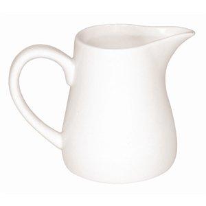 Olympia jarra de leche o crema de porcelana (U819, blanco (Pack de 6)