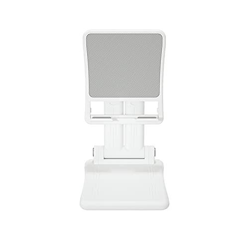 Kfhfhsdgsasjzj Soporte Movil Mesa, Soporte de Escritorio Plegable de Doble Polo para teléfono telescópico portátil Tableta Tableta (Color : White)