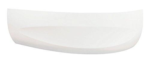 'aquaSu® Schürze zur Acryl-Ovalwanne loPa (rechts) 150 x 100 cm I Weiß I Bad I Badezimmer