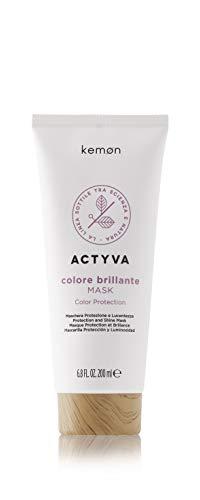 Kemon Actyva Colore Brillante Mask - Haar-Maske für coloriertes und strapaziertes Haar, intensive Haar-Pflege - 200 ml