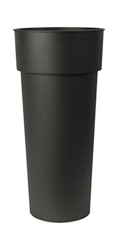 EURO3PLAST 3013 62 Vase pour Fleurs et Plantes, Noir, 39 x 39 x 80 cm