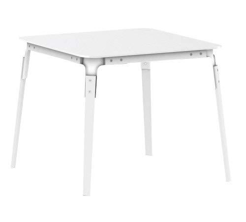 Magis Steelwood Table Tisch 90x90 cm Weiß/Weiß