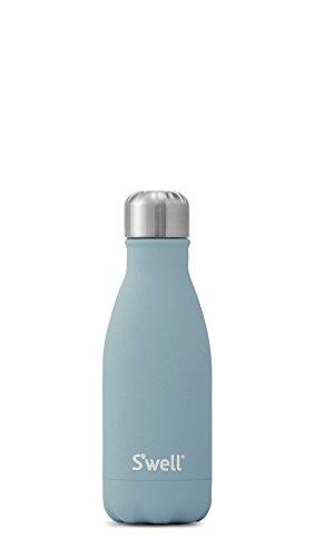 S'well - Botella de agua aislada de acero inoxidable, Azul (Aquamarine), 500 ml (17 oz)