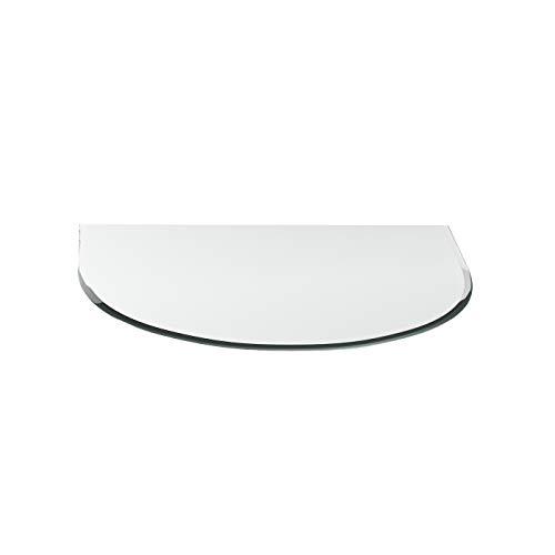 Funkenschutzplatte G2 Zunge ESG 6mm x 1000mmx1000mm mit18mm Facettenschliff Glasplatte Bodenplatte Kaminplatte Funkenschutz Ofenplatte Kaminglas