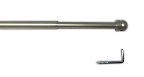 tilldekor Messingstange, ausziehbare Gardinenstange, Nickel-matt, 60-110 cm