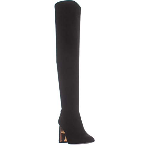 BCBGeneration Womens Aliana Square Toe Over Knee Fashion Boots, Black, Size 6.5
