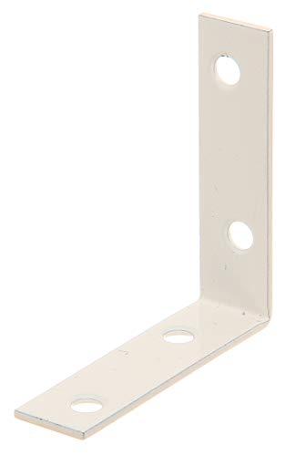 GAH-Alberts 336738 Stuhlwinkel | weiß kunststoffbeschichtet | 60 x 60 x 16 mm | 8er Set