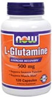 L-Glutamine 120 Caps 500 Mg ( Free Form Amino Acid ) - NOW Foods