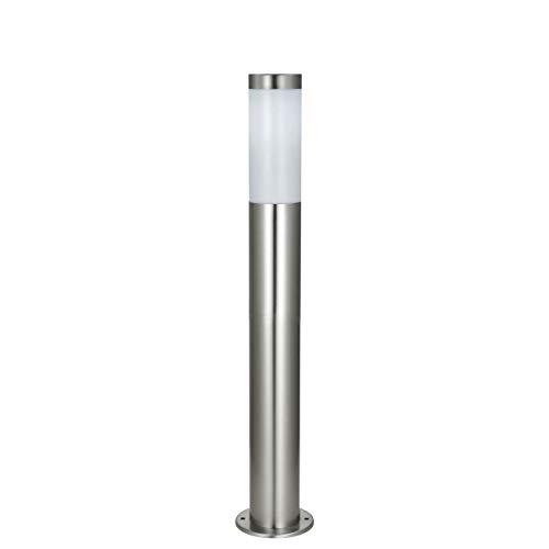 Standleuchte XXL LED Wegeleuchte Edelstahl 80 cm Außenleuchte mit Schutzklasse IP44 - Ideale Gartenlampe, Außenlampe + Terassenleuchte