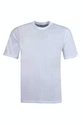 hajo Herren T-Shirt - Basic Shirt, Kurzarm, Rundhals, Soft Cotton, unifarben Weiss S (Small)