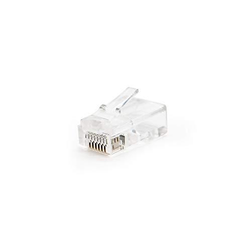 NanoCable 10.21.0102-100 - Conector para cable de red Ethernet RJ45, 8 hilos Cat.5e UTP, bolsa de 100 unidades