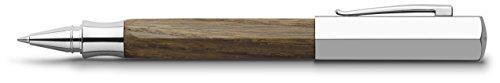 Faber-Castell Ondoro - Roller con cuerpo en madera de roble ahumado, con forma hexagonal