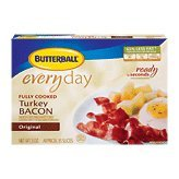 Butterball Everyday Original Fully Cooked Turkey Bacon, 3 Oz