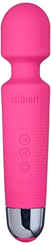 Shibari Mini Halo,'The Original' Compact Power Wand Massager, Wireless, 20x Multi-Speed Vibrations (Pink)