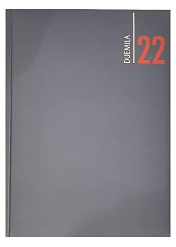Agenda Giornaliera 2022 Blu Similpelle 12 Mesi Formato A4 21x30 cm + Penna a Sfera + Calendario Tascabile Omaggio