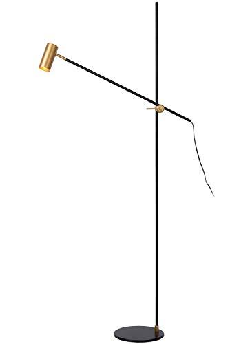 Lucide PHILINE - vloerlamp met leeslamp - GU10 - zwart